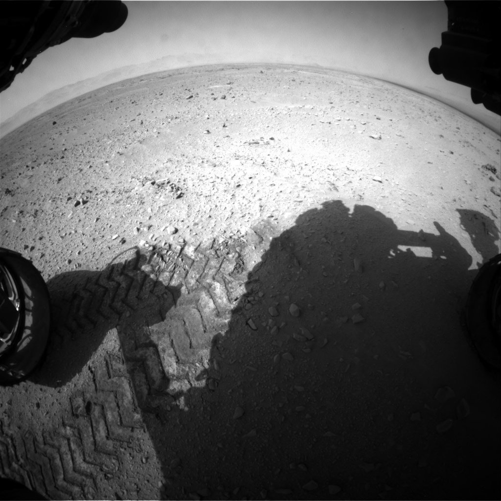 NASA's Mars rover Curiosity acquired this image using its Front Hazard Avoidance Cameras (Front Hazcams) on Sol 50
