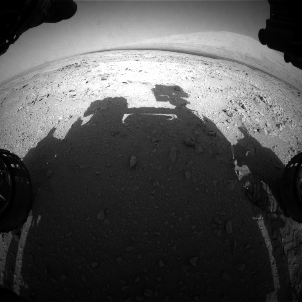NASA's Mars rover Curiosity acquired this image using its Front Hazard Avoidance Cameras (Front Hazcams) on Sol 52