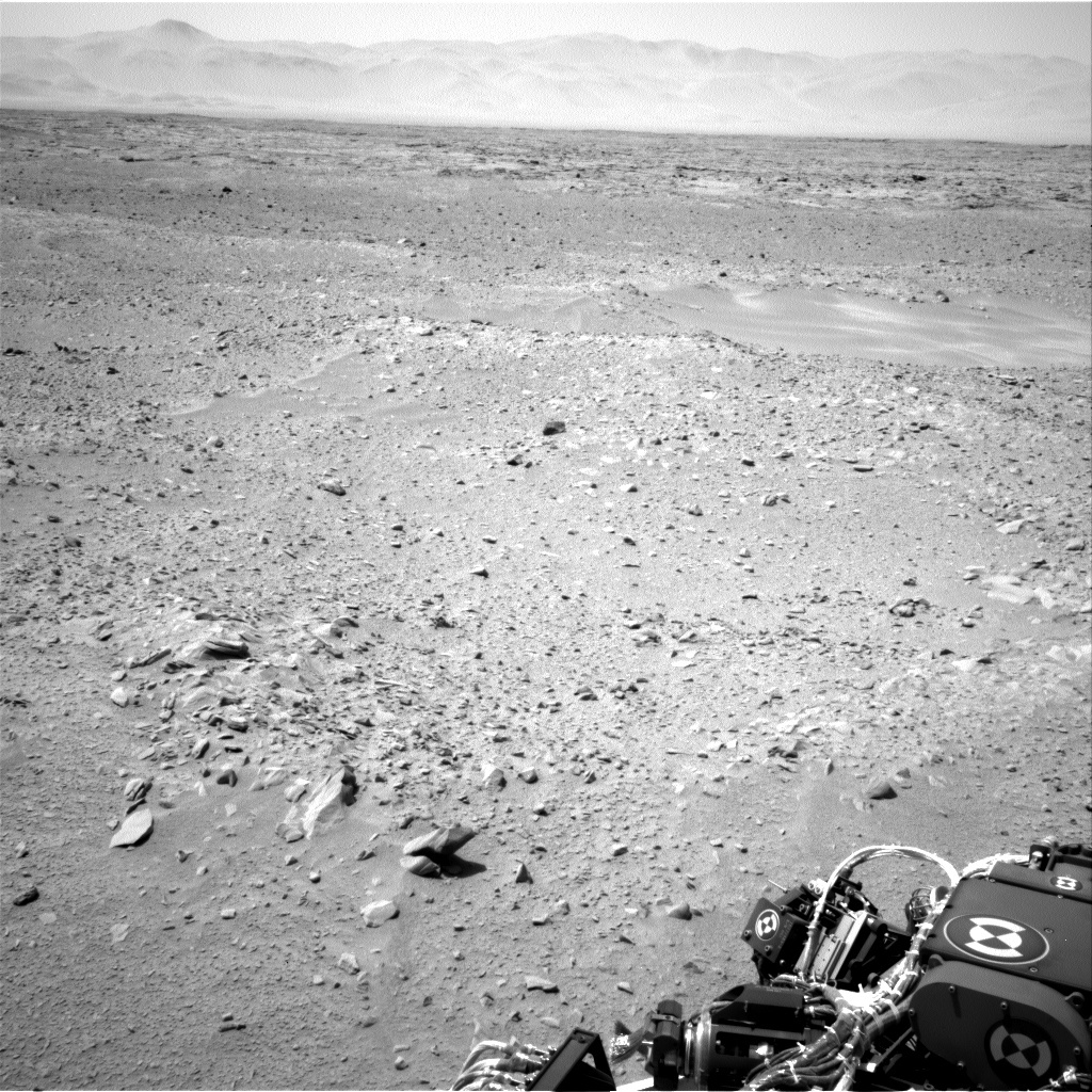 NASA's Mars rover Curiosity acquired this image using its Left Navigation Camera (Navcams) on Sol 52
