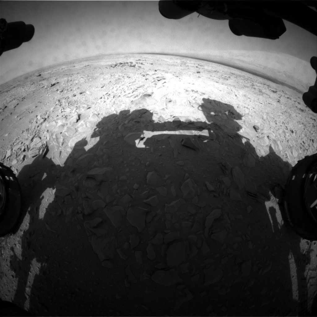 NASA's Mars rover Curiosity acquired this image using its Front Hazard Avoidance Cameras (Front Hazcams) on Sol 53