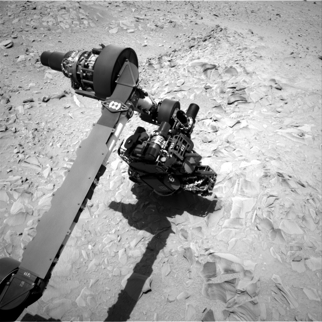 NASA's Mars rover Curiosity acquired this image using its Left Navigation Camera (Navcams) on Sol 54