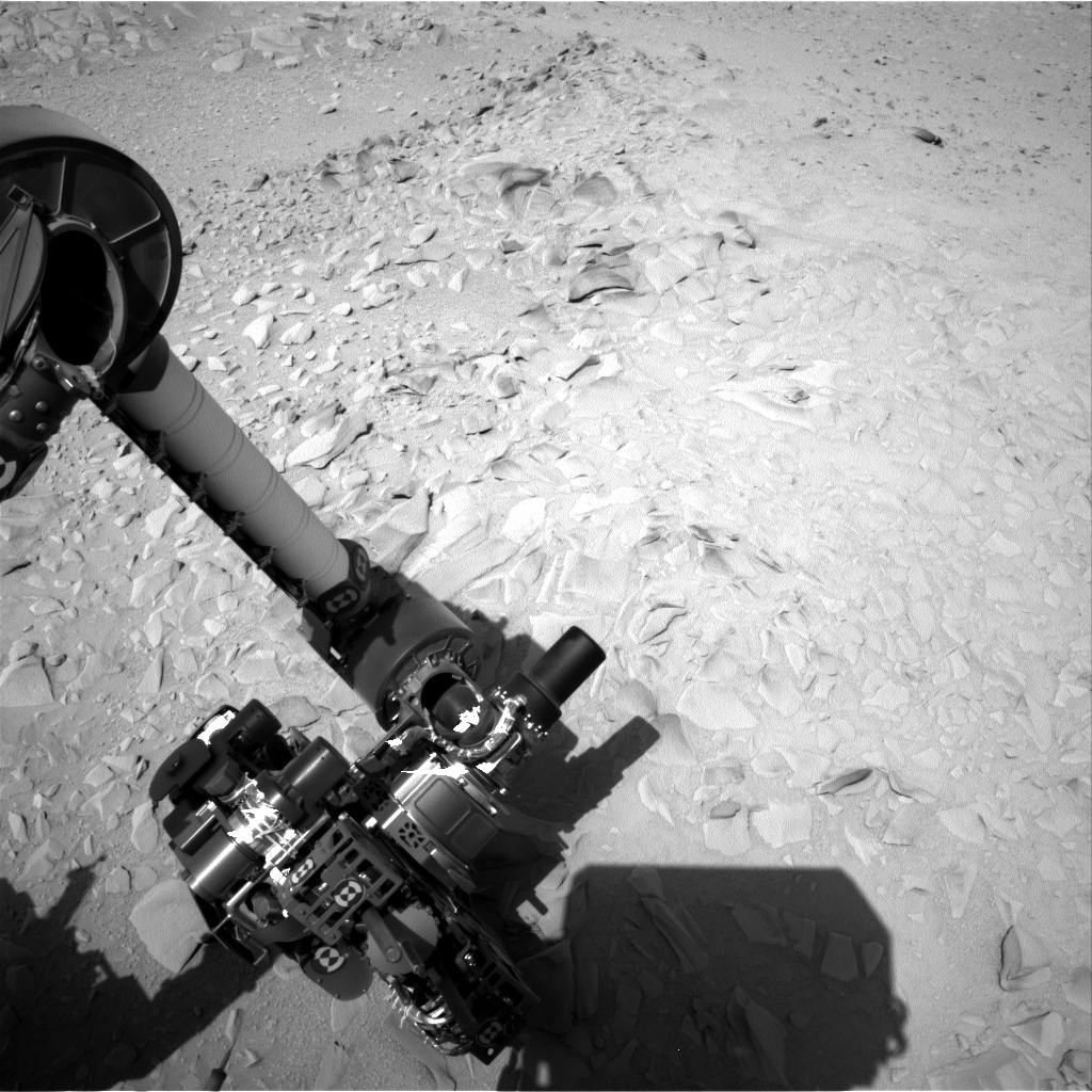 NASA's Mars rover Curiosity acquired this image using its Right Navigation Cameras (Navcams) on Sol 54