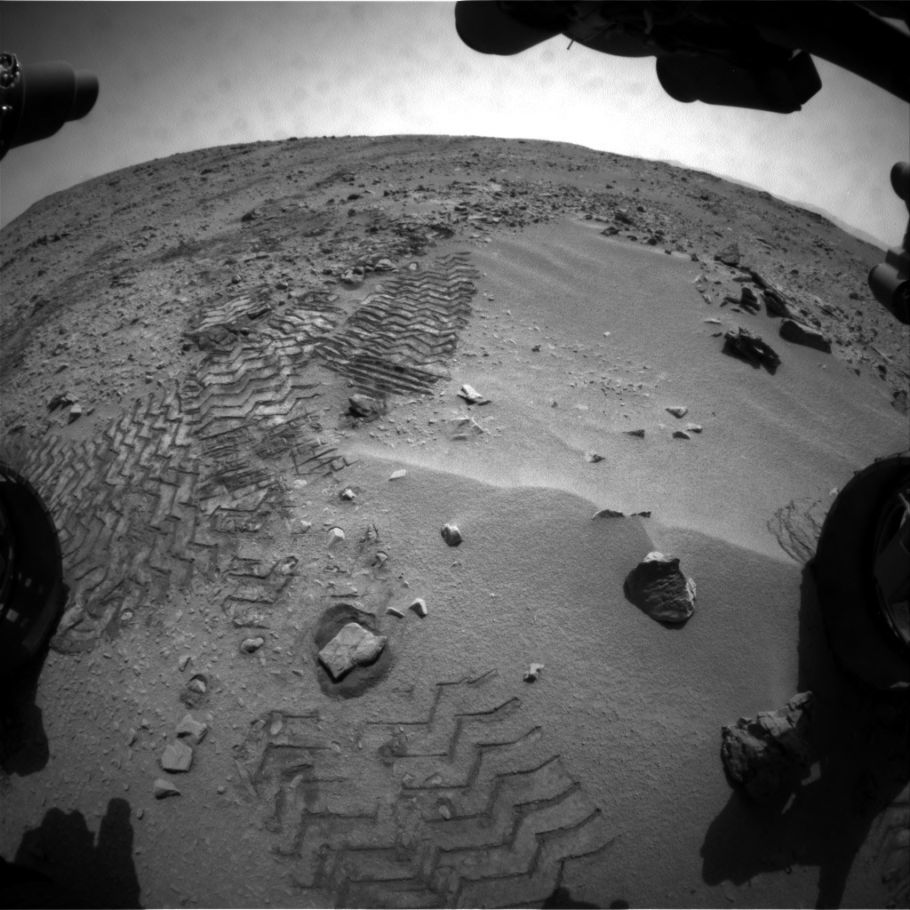 NASA's Mars rover Curiosity acquired this image using its Front Hazard Avoidance Cameras (Front Hazcams) on Sol 57