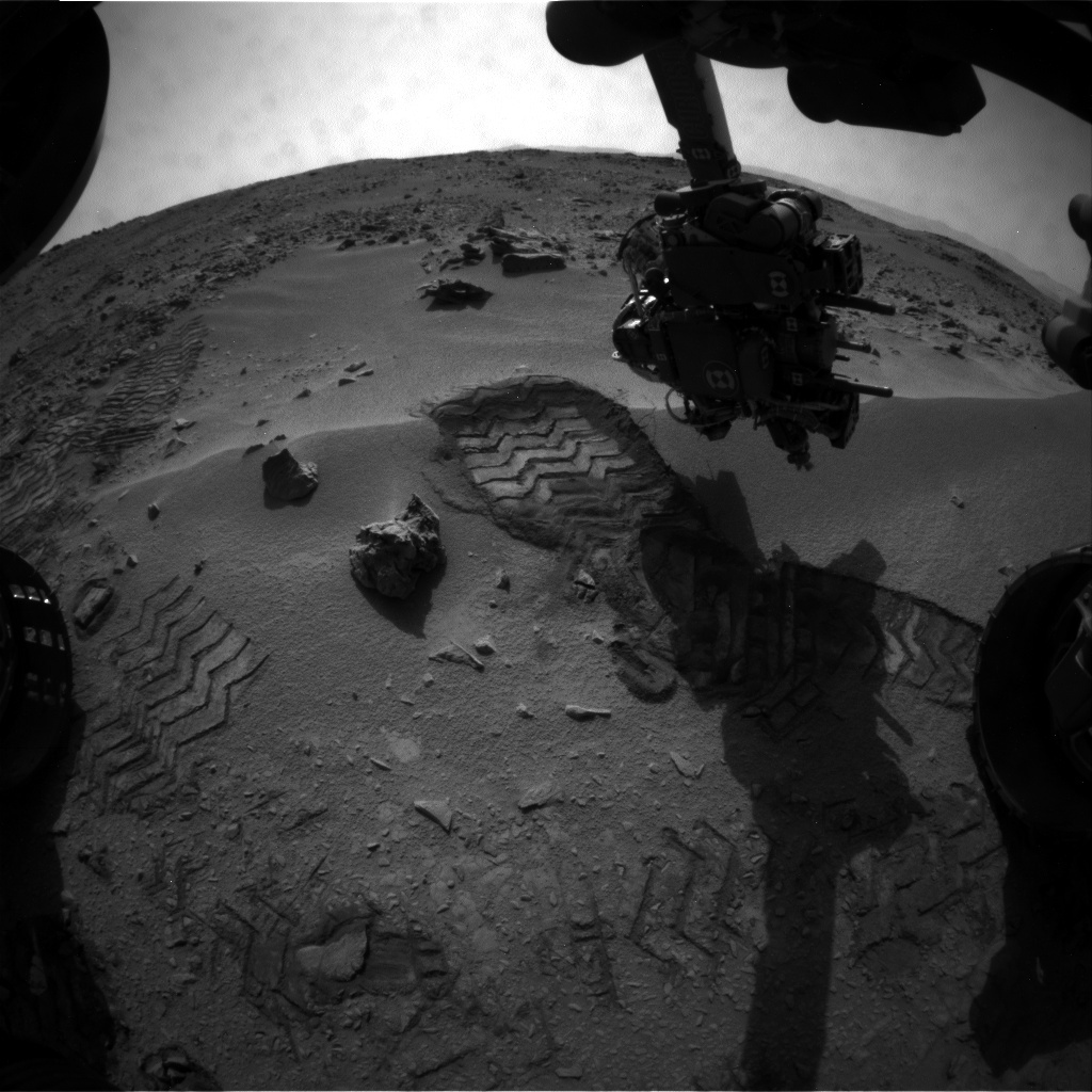 NASA's Mars rover Curiosity acquired this image using its Front Hazard Avoidance Cameras (Front Hazcams) on Sol 58