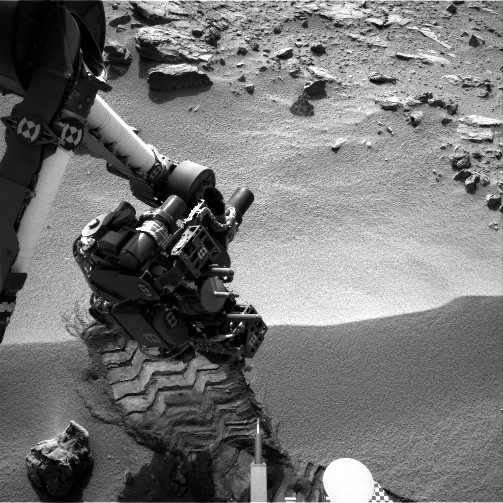 NASA's Mars rover Curiosity acquired this image using its Left Navigation Camera (Navcams) on Sol 58