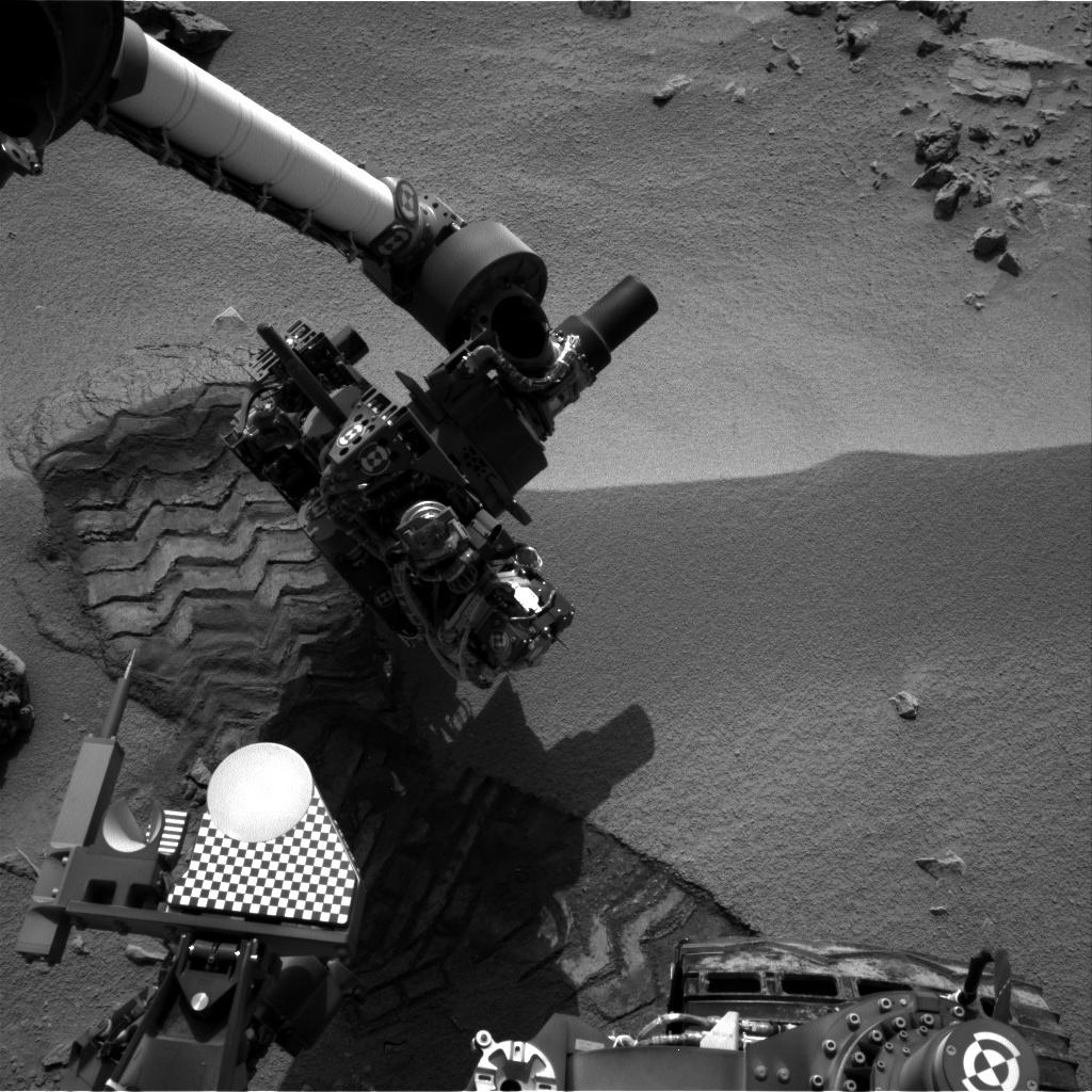 NASA's Mars rover Curiosity acquired this image using its Right Navigation Cameras (Navcams) on Sol 58