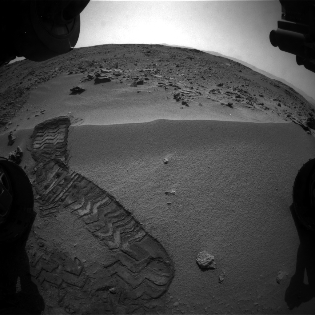 NASA's Mars rover Curiosity acquired this image using its Front Hazard Avoidance Cameras (Front Hazcams) on Sol 59