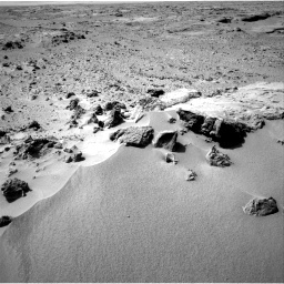 NASA's Mars rover Curiosity acquired this image using its Left Navigation Camera (Navcams) on Sol 59
