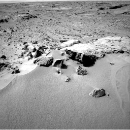 NASA's Mars rover Curiosity acquired this image using its Right Navigation Cameras (Navcams) on Sol 59