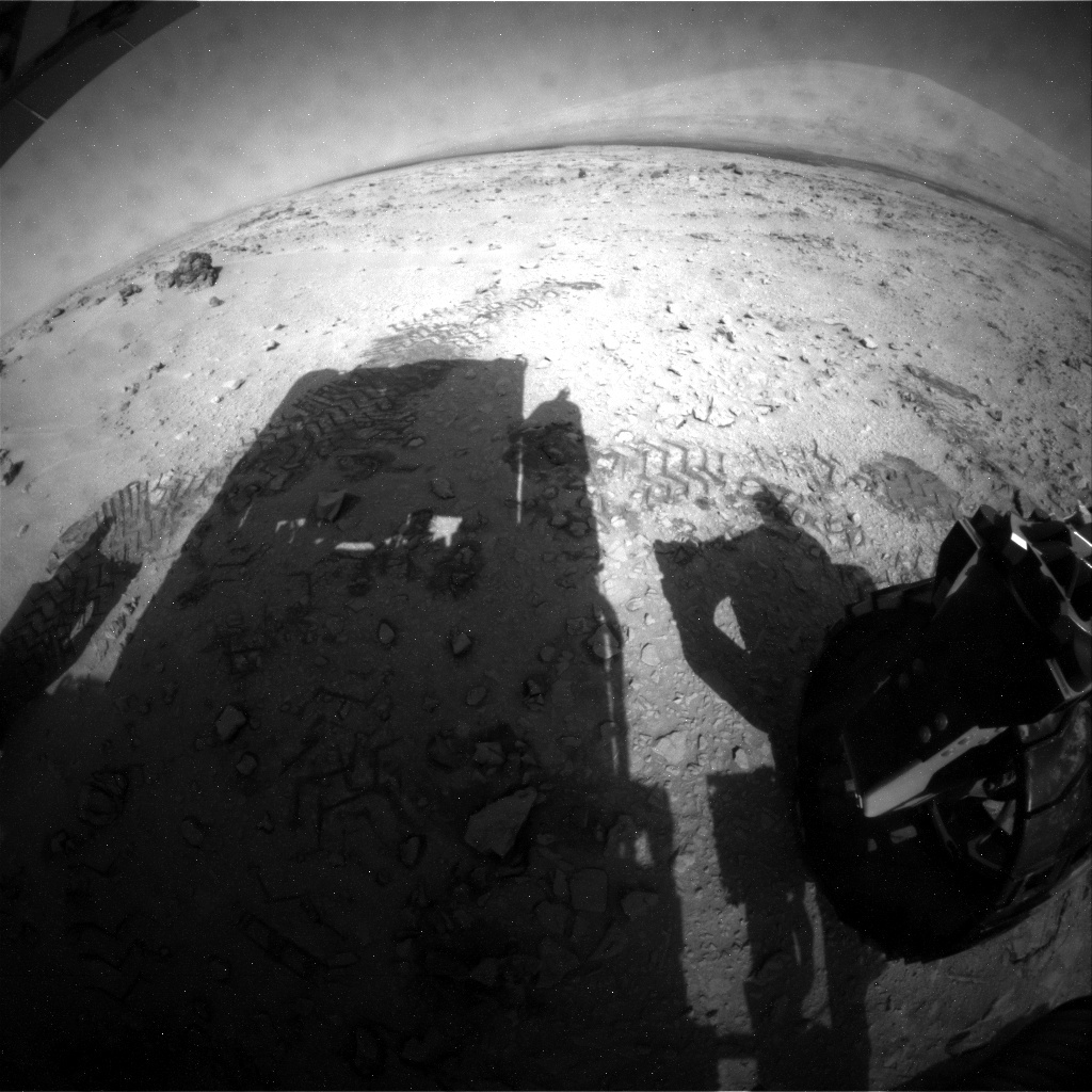 NASA's Mars rover Curiosity acquired this image using its Rear Hazard Avoidance Cameras (Rear Hazcams) on Sol 59