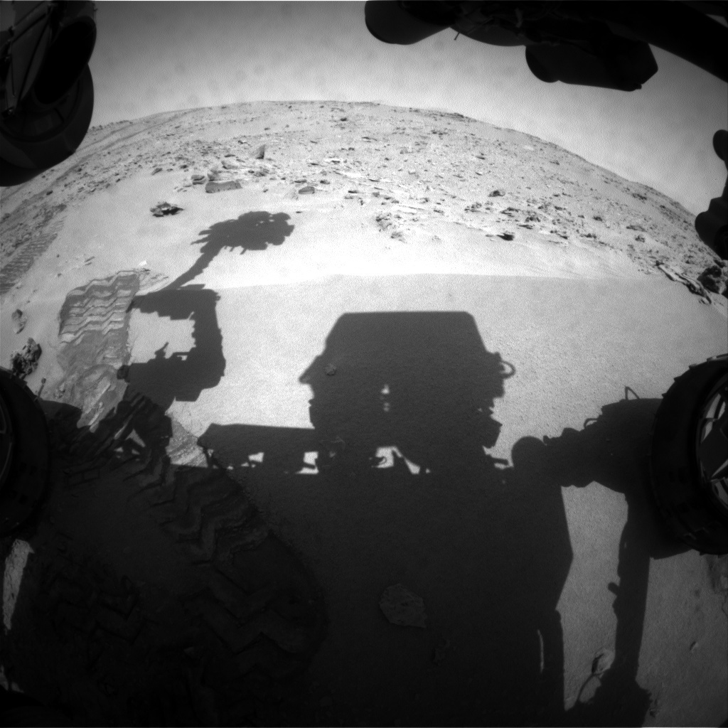 NASA's Mars rover Curiosity acquired this image using its Front Hazard Avoidance Cameras (Front Hazcams) on Sol 60