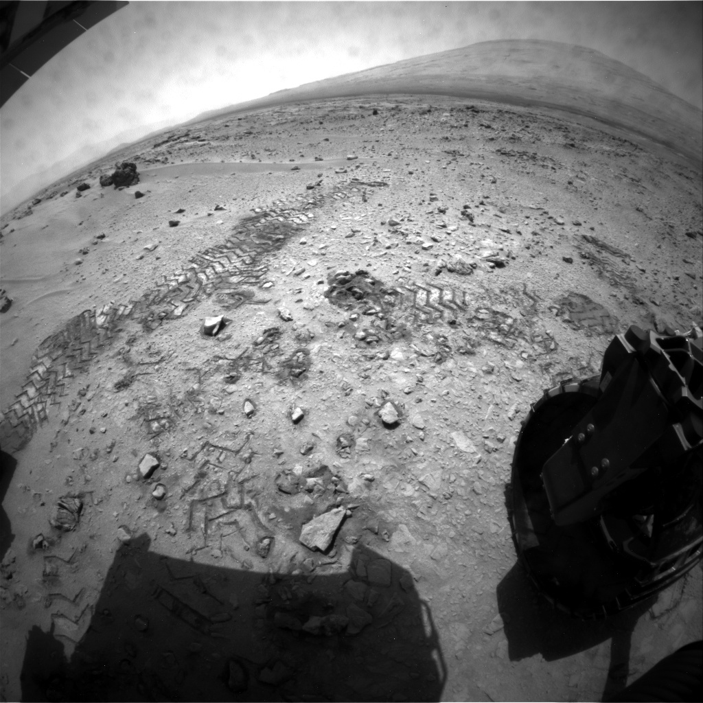NASA's Mars rover Curiosity acquired this image using its Rear Hazard Avoidance Cameras (Rear Hazcams) on Sol 60