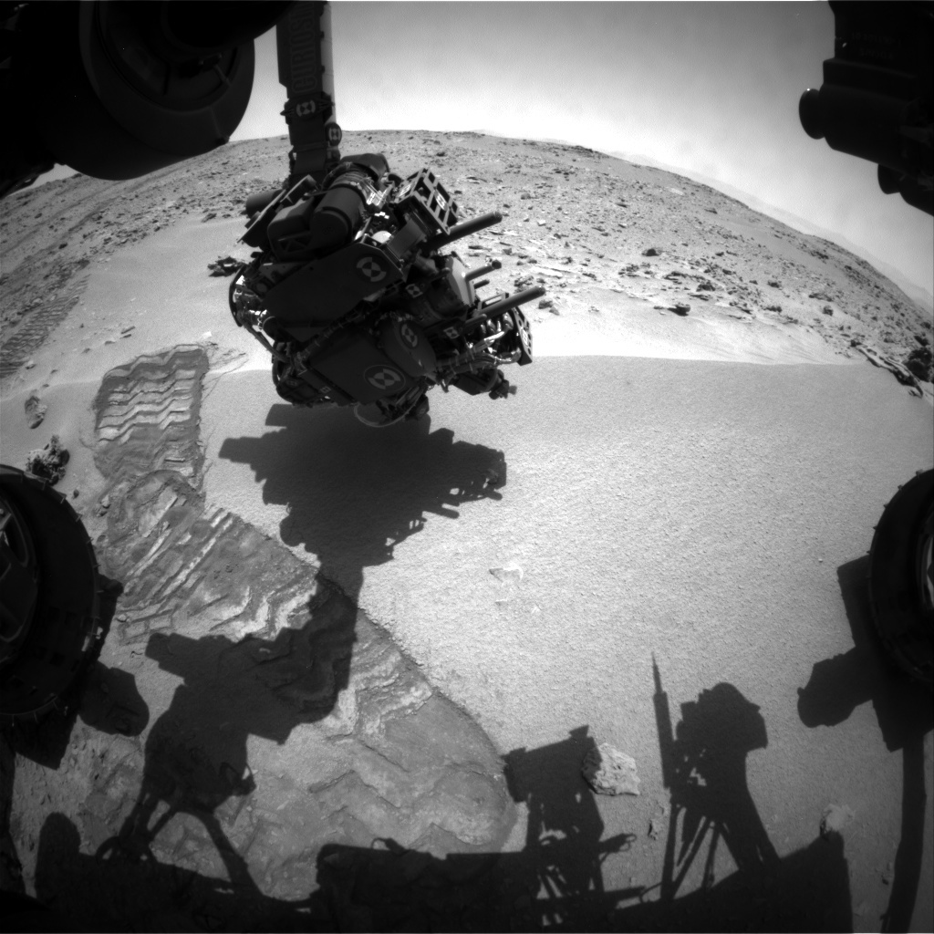 NASA's Mars rover Curiosity acquired this image using its Front Hazard Avoidance Cameras (Front Hazcams) on Sol 61