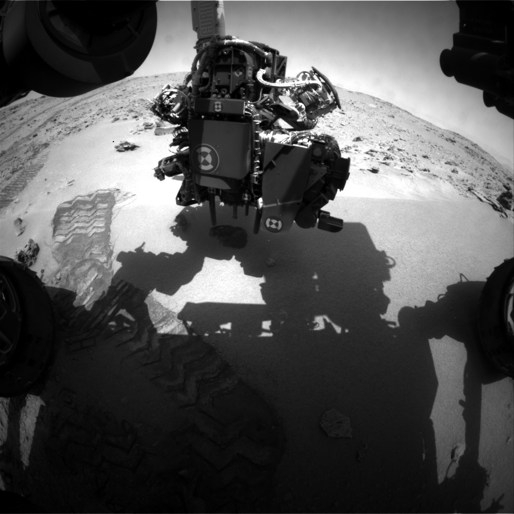 NASA's Mars rover Curiosity acquired this image using its Front Hazard Avoidance Cameras (Front Hazcams) on Sol 62