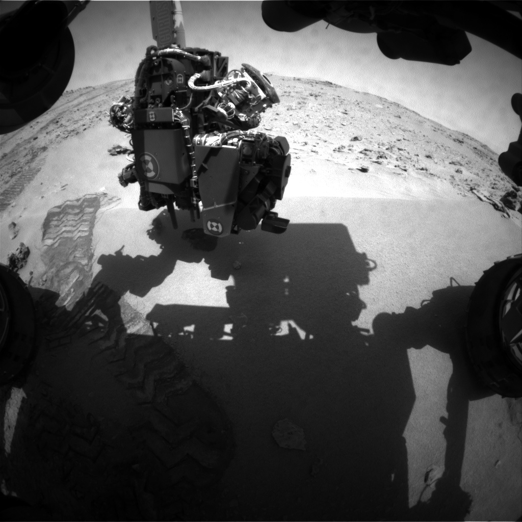 NASA's Mars rover Curiosity acquired this image using its Front Hazard Avoidance Cameras (Front Hazcams) on Sol 64