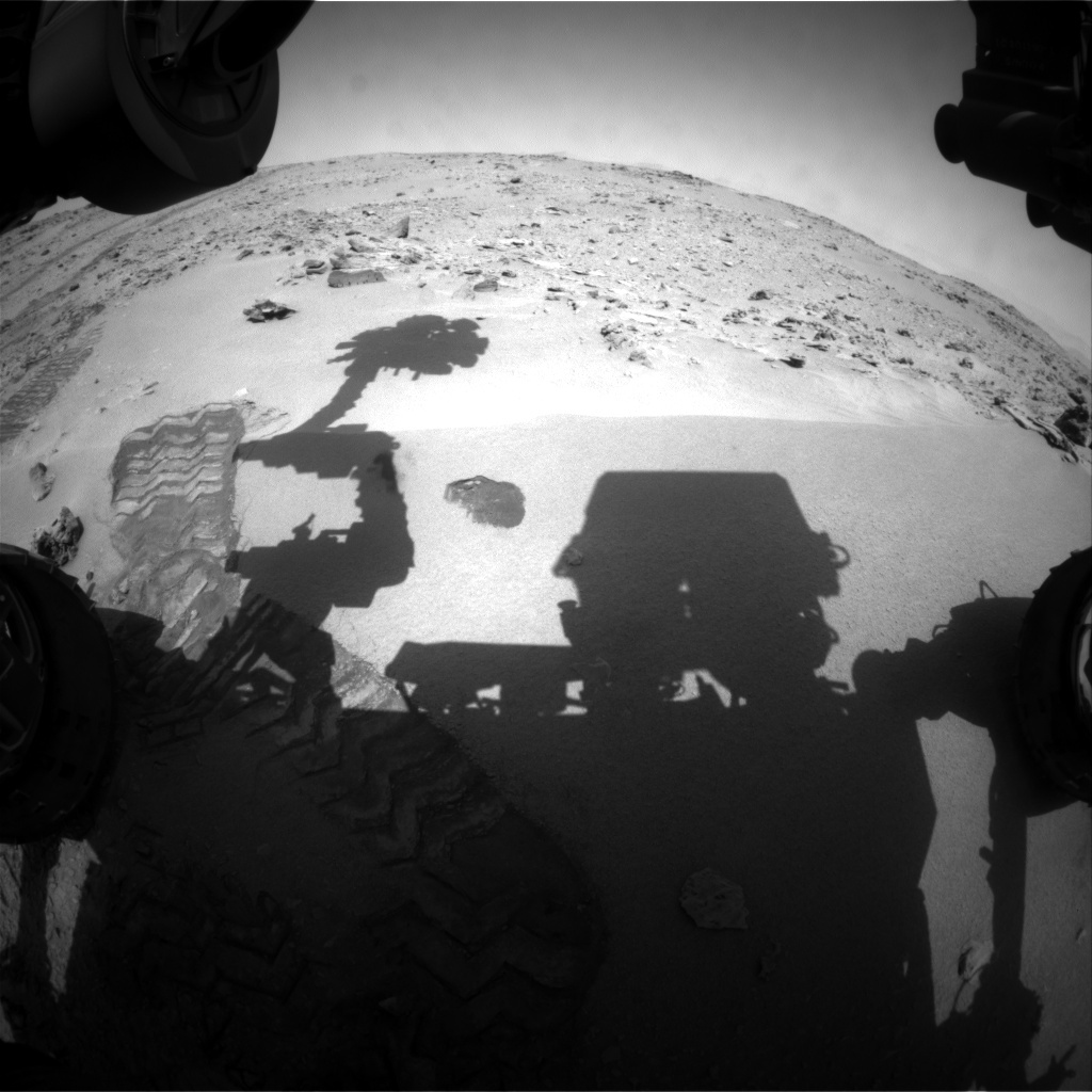 NASA's Mars rover Curiosity acquired this image using its Front Hazard Avoidance Cameras (Front Hazcams) on Sol 65