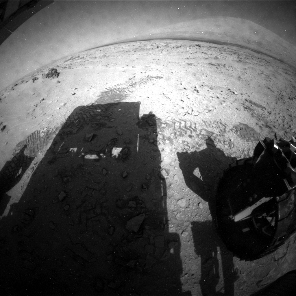 NASA's Mars rover Curiosity acquired this image using its Rear Hazard Avoidance Cameras (Rear Hazcams) on Sol 65
