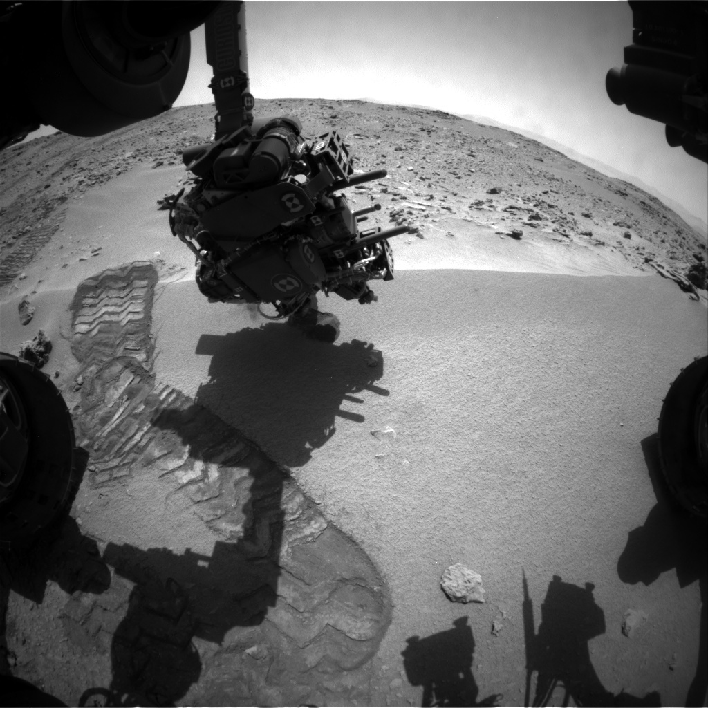 NASA's Mars rover Curiosity acquired this image using its Front Hazard Avoidance Cameras (Front Hazcams) on Sol 66