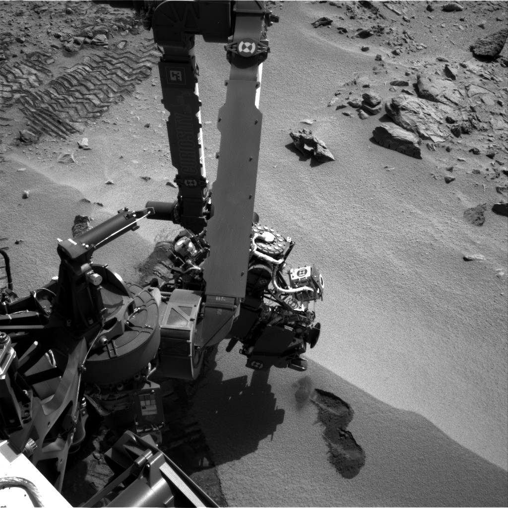 NASA's Mars rover Curiosity acquired this image using its Left Navigation Camera (Navcams) on Sol 66
