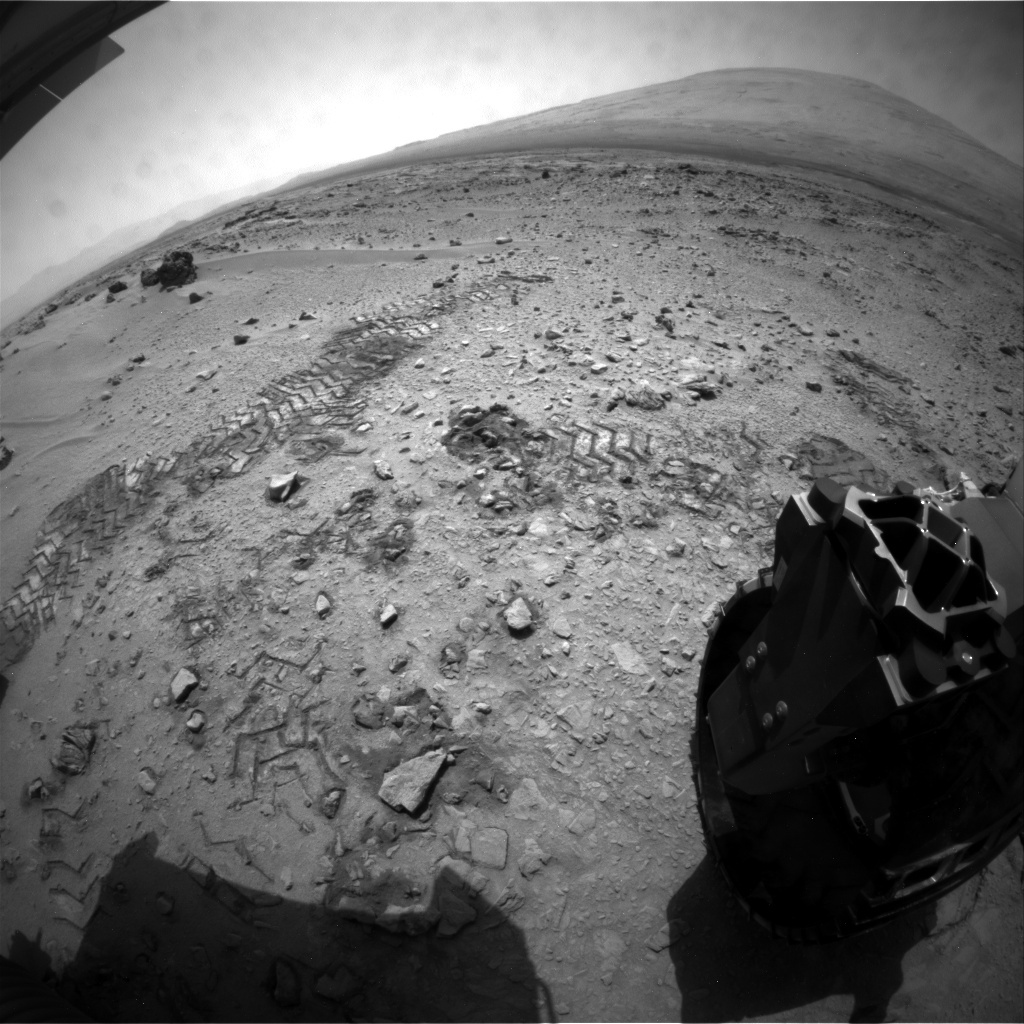 NASA's Mars rover Curiosity acquired this image using its Rear Hazard Avoidance Cameras (Rear Hazcams) on Sol 66