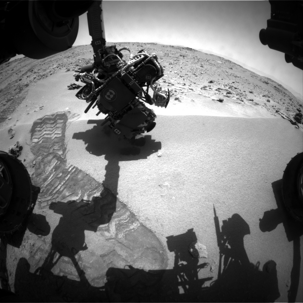 NASA's Mars rover Curiosity acquired this image using its Front Hazard Avoidance Cameras (Front Hazcams) on Sol 67