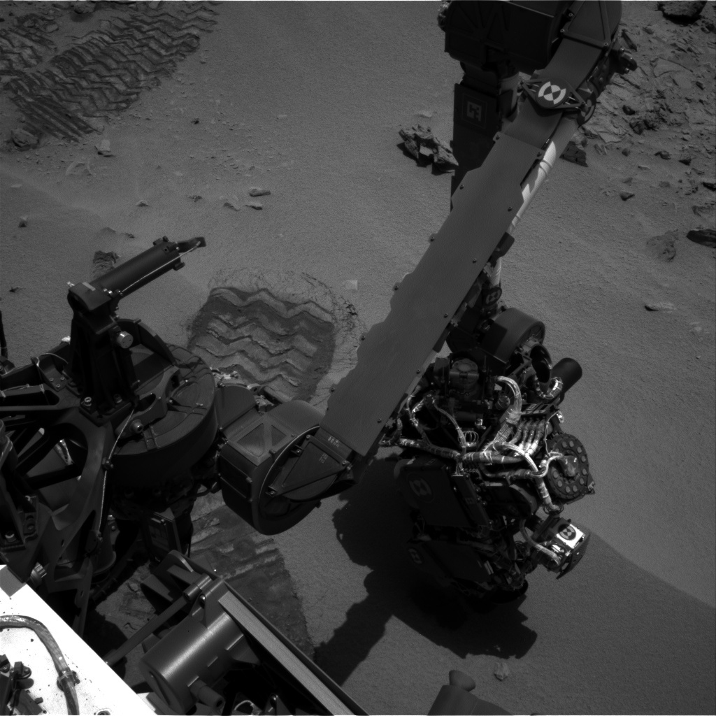 NASA's Mars rover Curiosity acquired this image using its Left Navigation Camera (Navcams) on Sol 67