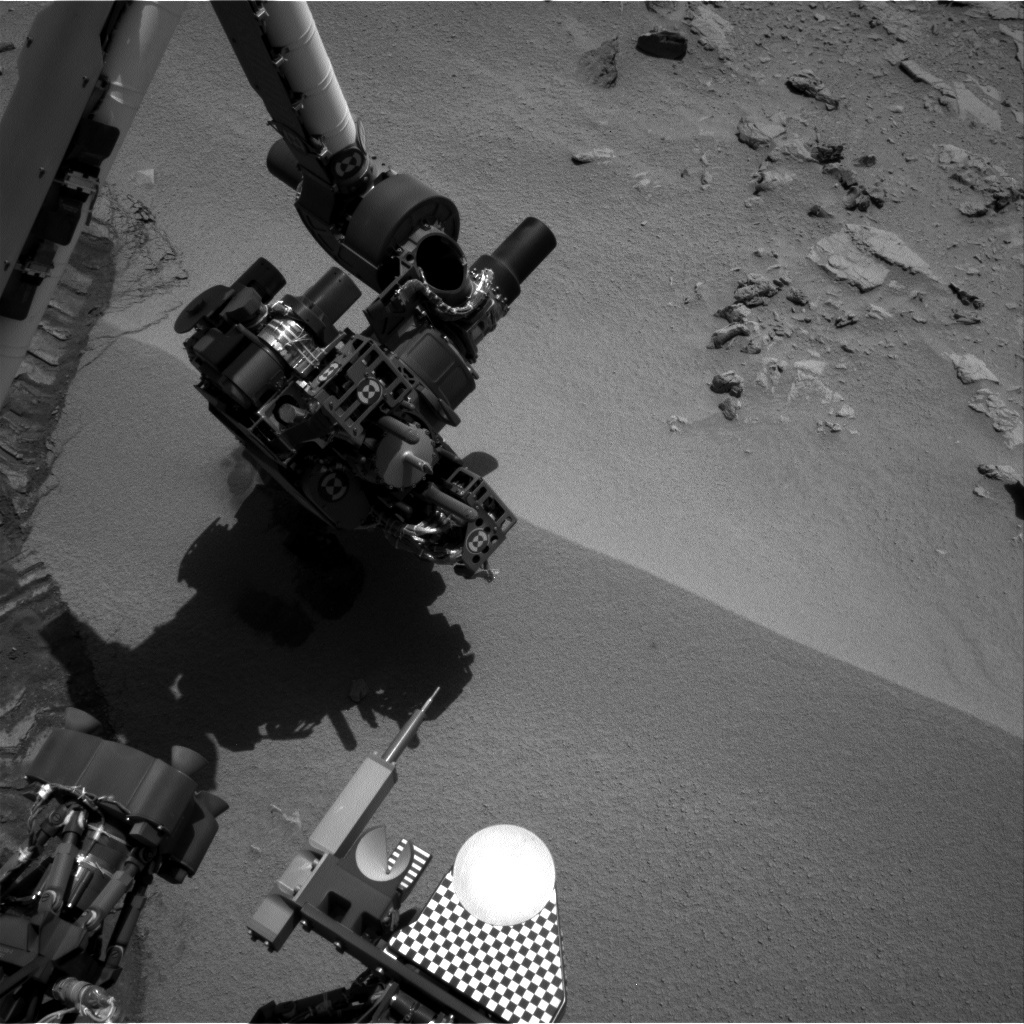 NASA's Mars rover Curiosity acquired this image using its Right Navigation Cameras (Navcams) on Sol 67
