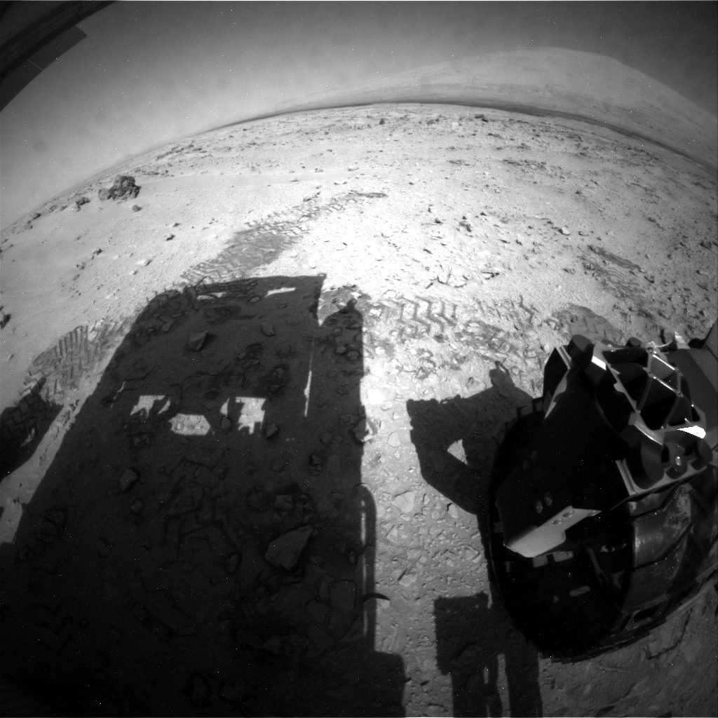 NASA's Mars rover Curiosity acquired this image using its Rear Hazard Avoidance Cameras (Rear Hazcams) on Sol 67