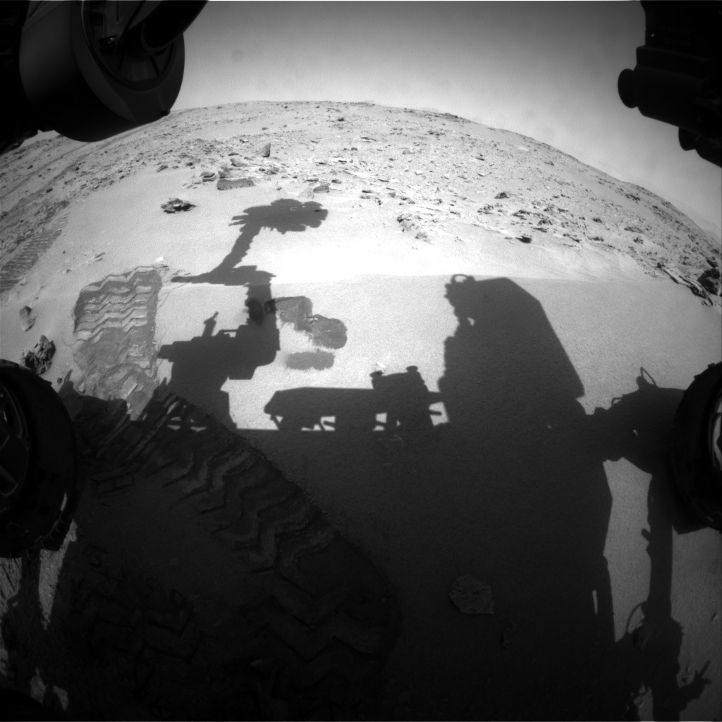 NASA's Mars rover Curiosity acquired this image using its Front Hazard Avoidance Cameras (Front Hazcams) on Sol 68
