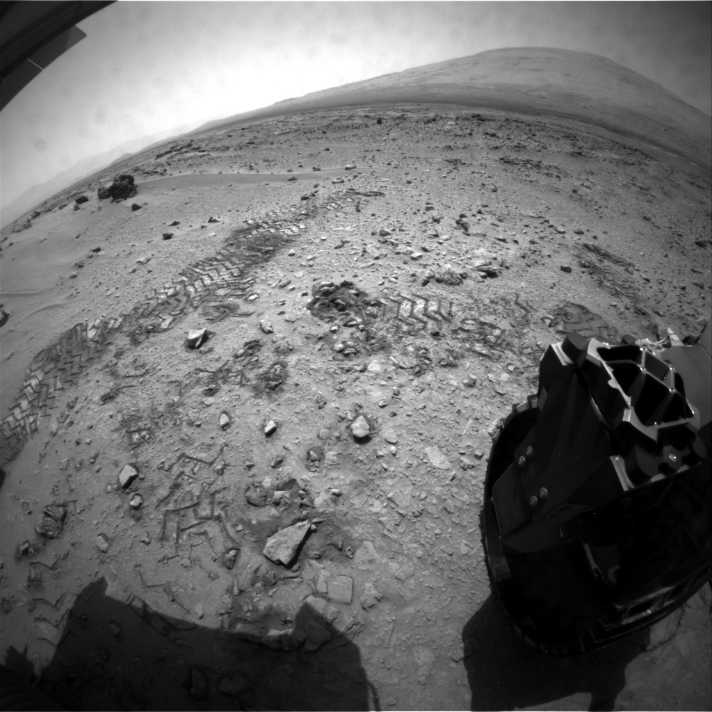 NASA's Mars rover Curiosity acquired this image using its Rear Hazard Avoidance Cameras (Rear Hazcams) on Sol 68
