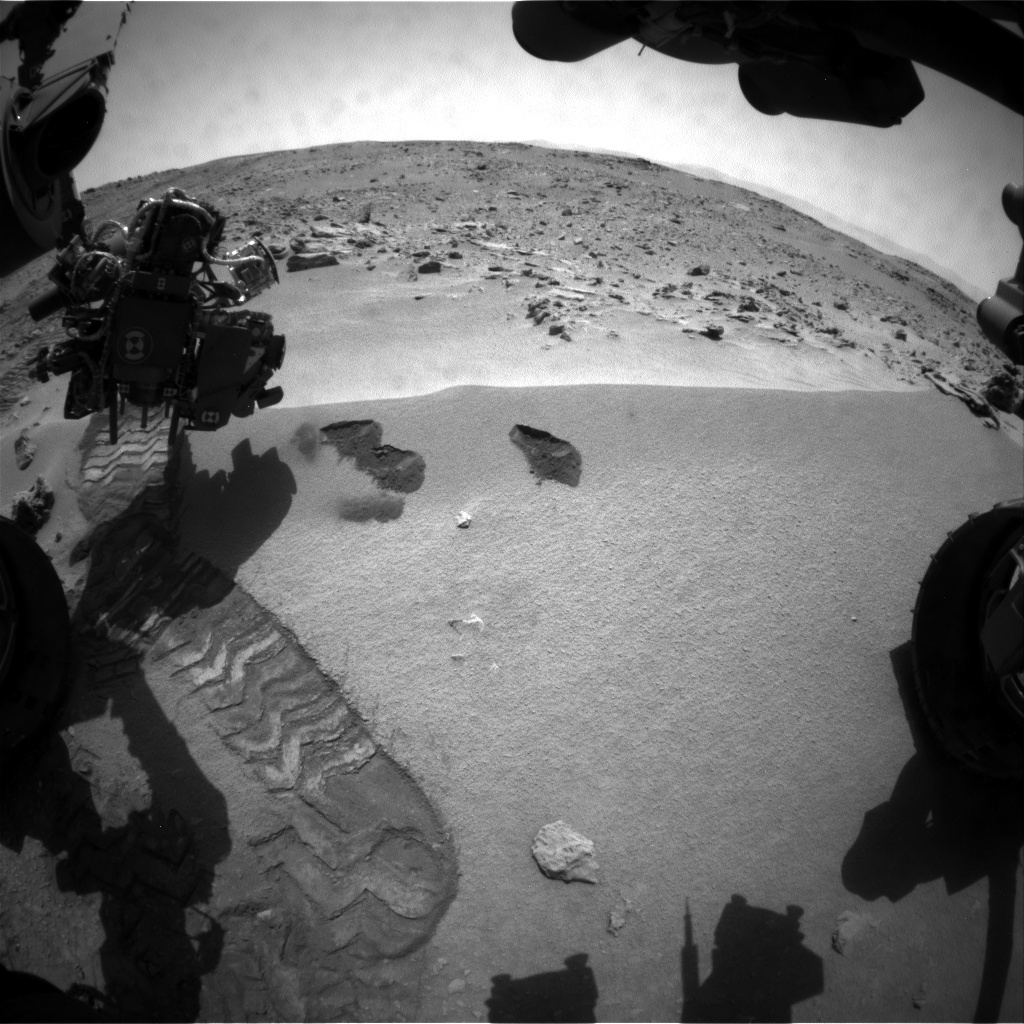 NASA's Mars rover Curiosity acquired this image using its Front Hazard Avoidance Cameras (Front Hazcams) on Sol 69