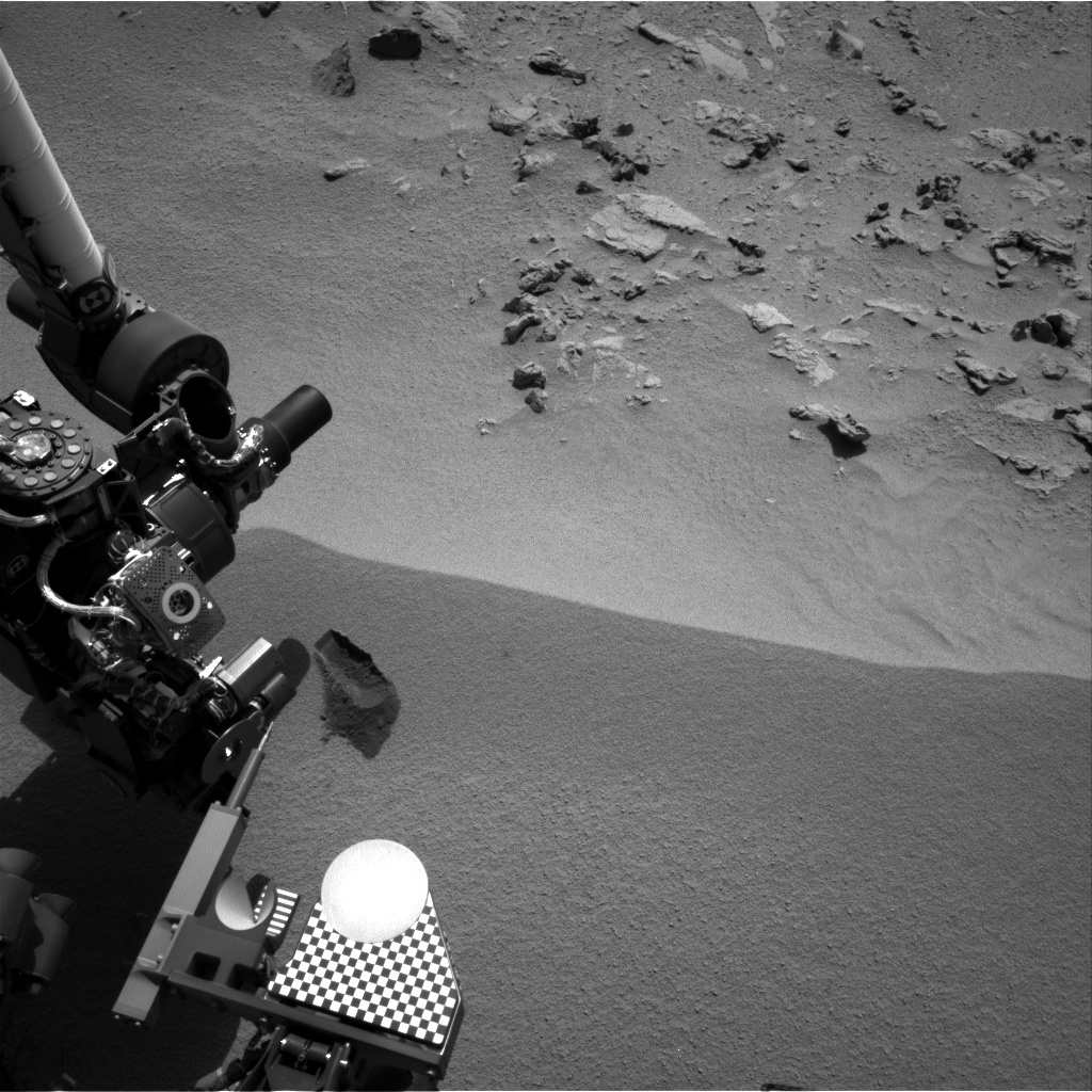 NASA's Mars rover Curiosity acquired this image using its Right Navigation Cameras (Navcams) on Sol 69