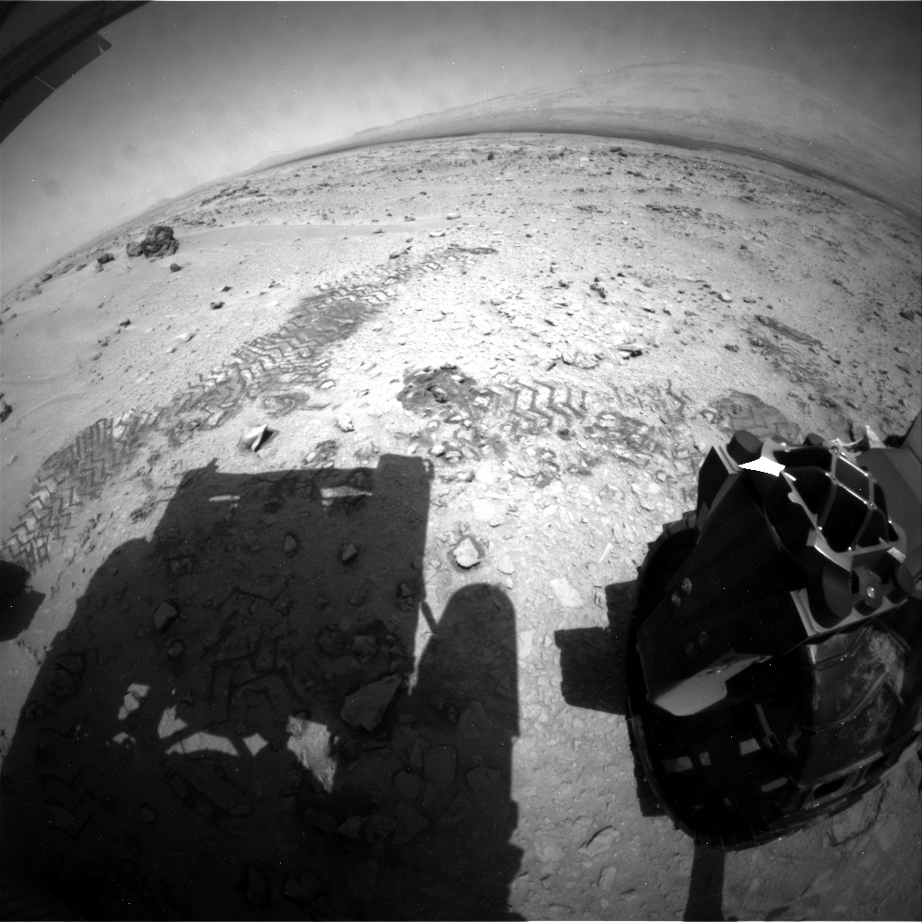 NASA's Mars rover Curiosity acquired this image using its Rear Hazard Avoidance Cameras (Rear Hazcams) on Sol 69