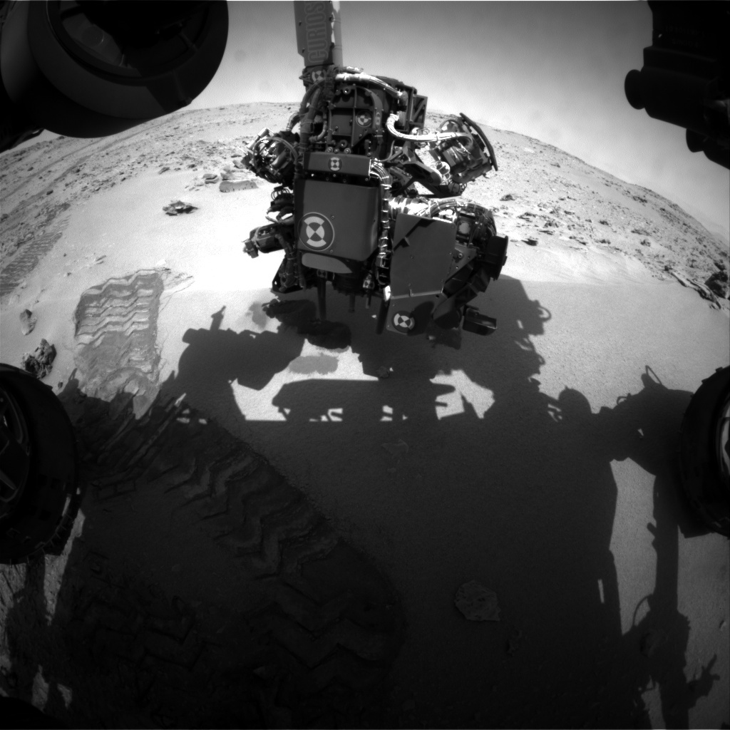NASA's Mars rover Curiosity acquired this image using its Front Hazard Avoidance Cameras (Front Hazcams) on Sol 70