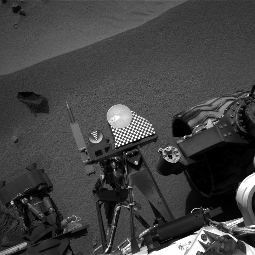NASA's Mars rover Curiosity acquired this image using its Left Navigation Camera (Navcams) on Sol 70