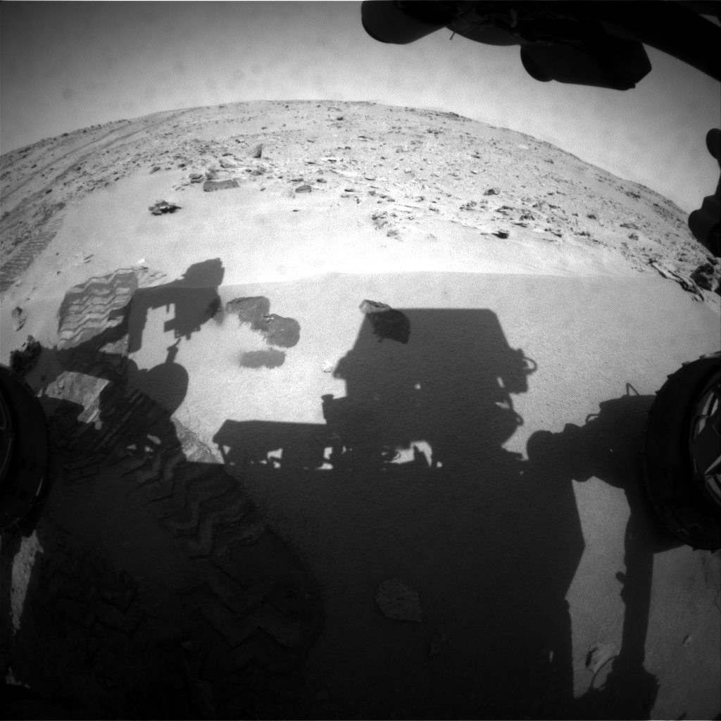 NASA's Mars rover Curiosity acquired this image using its Front Hazard Avoidance Cameras (Front Hazcams) on Sol 71