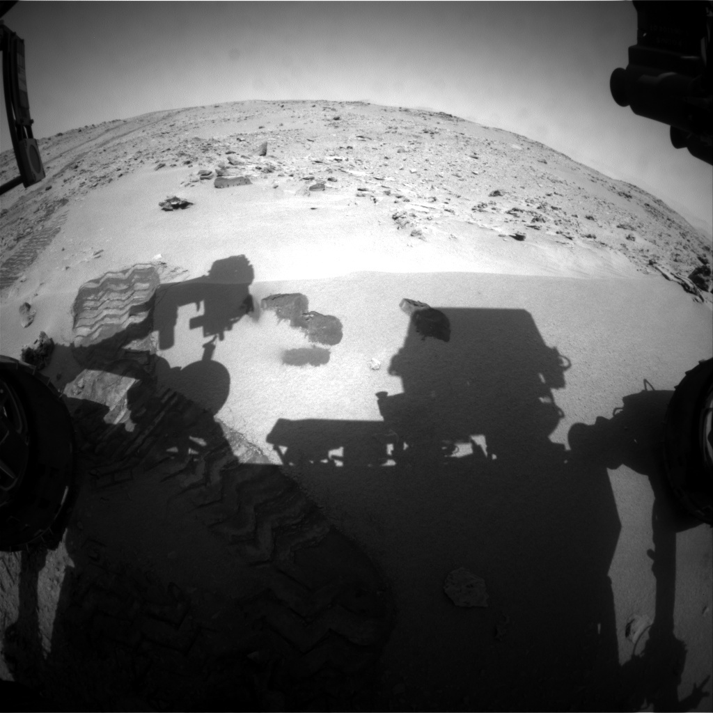 NASA's Mars rover Curiosity acquired this image using its Front Hazard Avoidance Cameras (Front Hazcams) on Sol 73