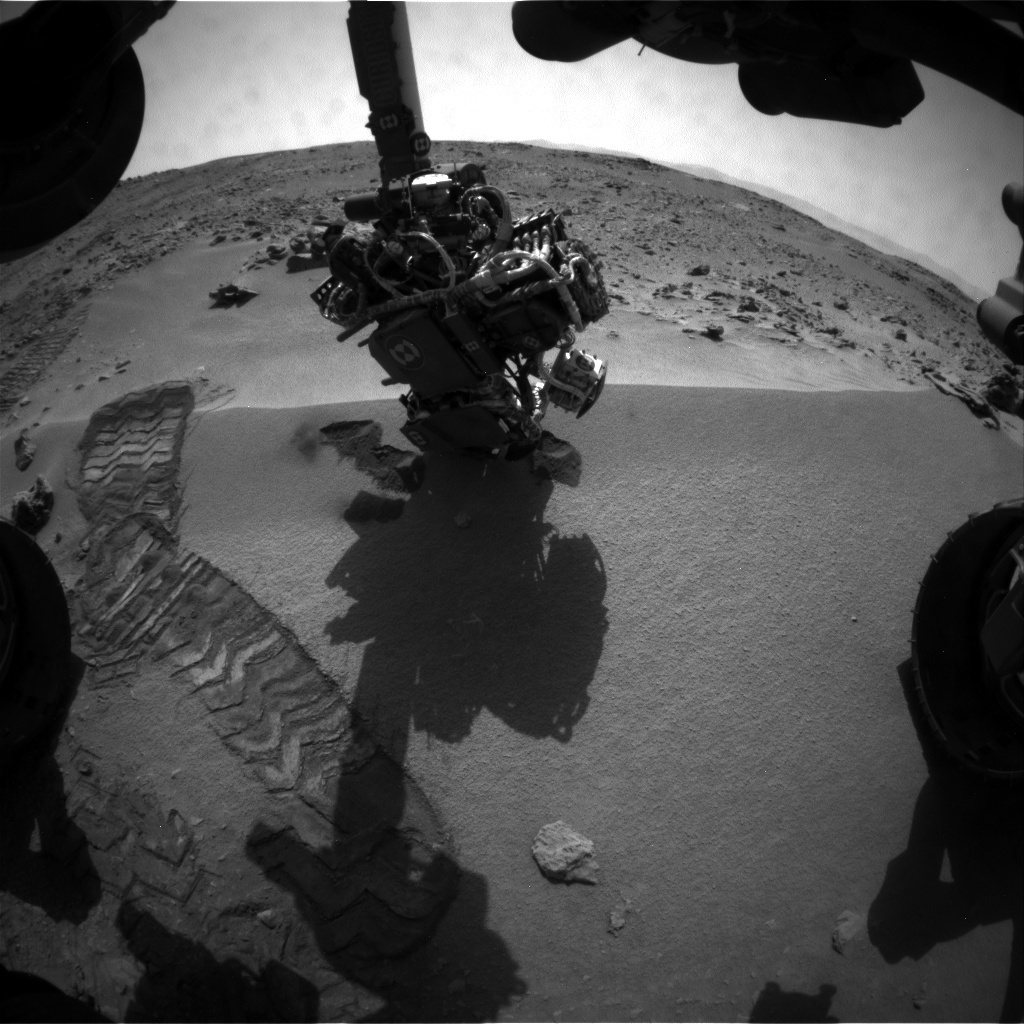 NASA's Mars rover Curiosity acquired this image using its Front Hazard Avoidance Cameras (Front Hazcams) on Sol 74