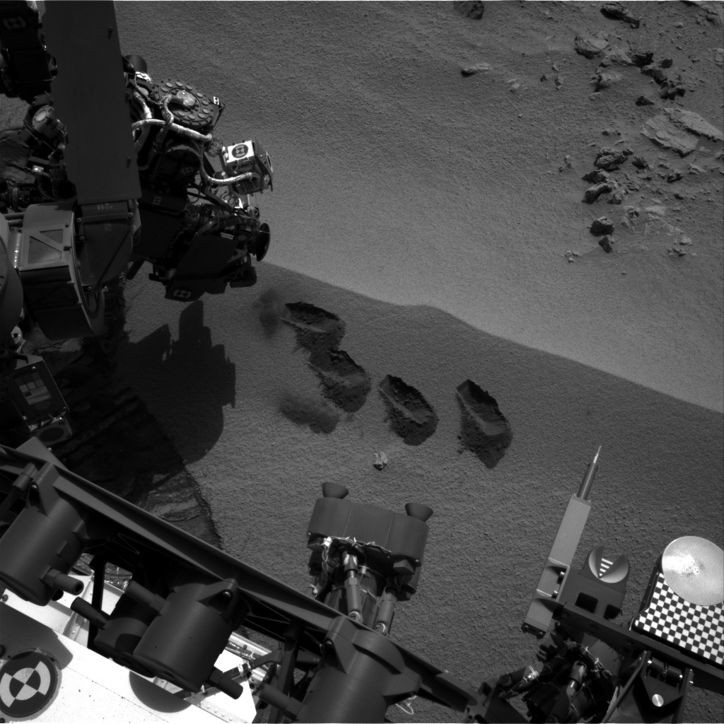 NASA's Mars rover Curiosity acquired this image using its Left Navigation Camera (Navcams) on Sol 74