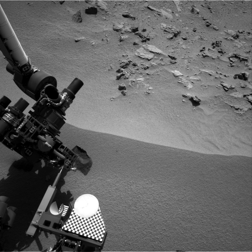 NASA's Mars rover Curiosity acquired this image using its Right Navigation Cameras (Navcams) on Sol 74
