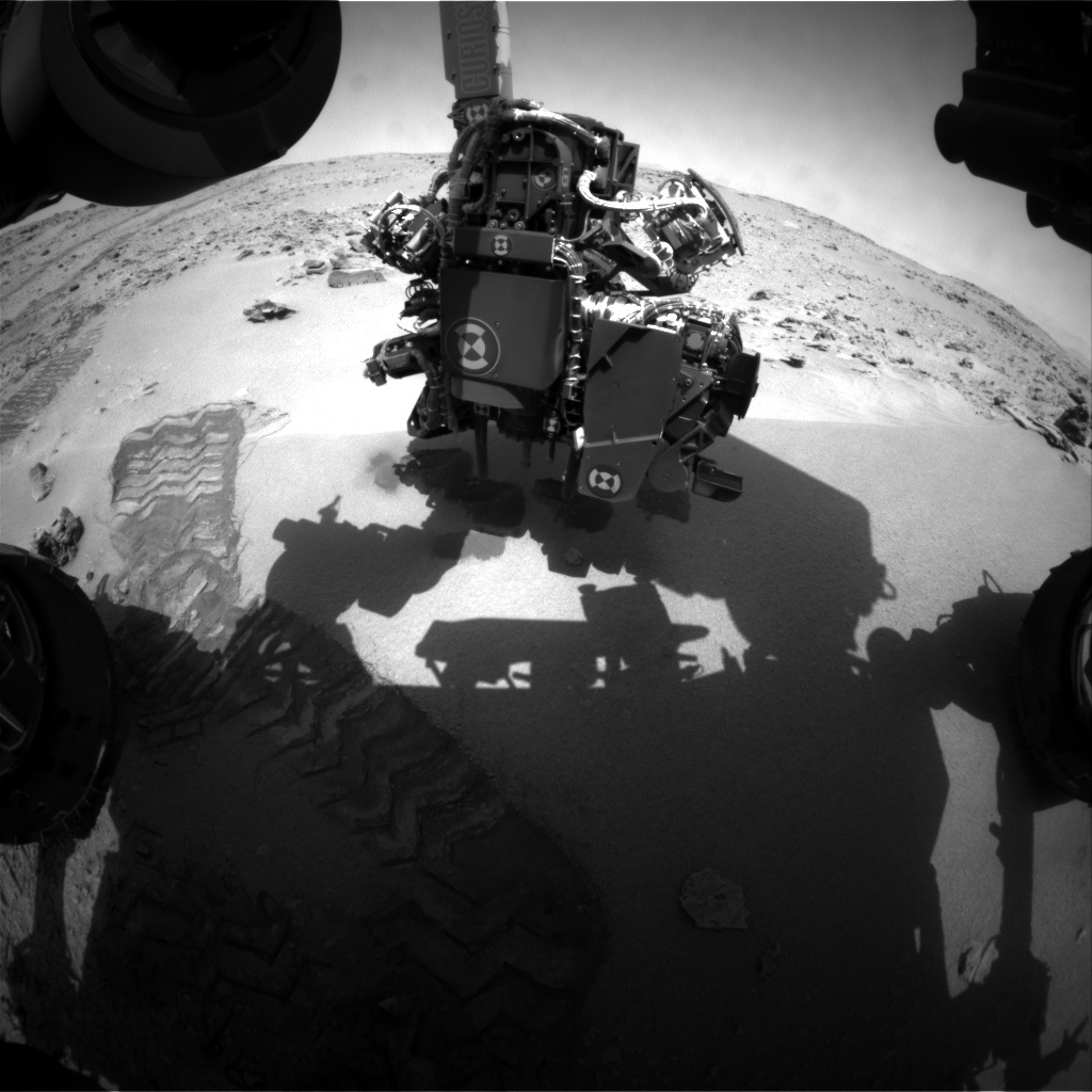 NASA's Mars rover Curiosity acquired this image using its Front Hazard Avoidance Cameras (Front Hazcams) on Sol 75