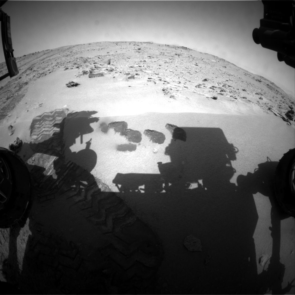 NASA's Mars rover Curiosity acquired this image using its Front Hazard Avoidance Cameras (Front Hazcams) on Sol 76