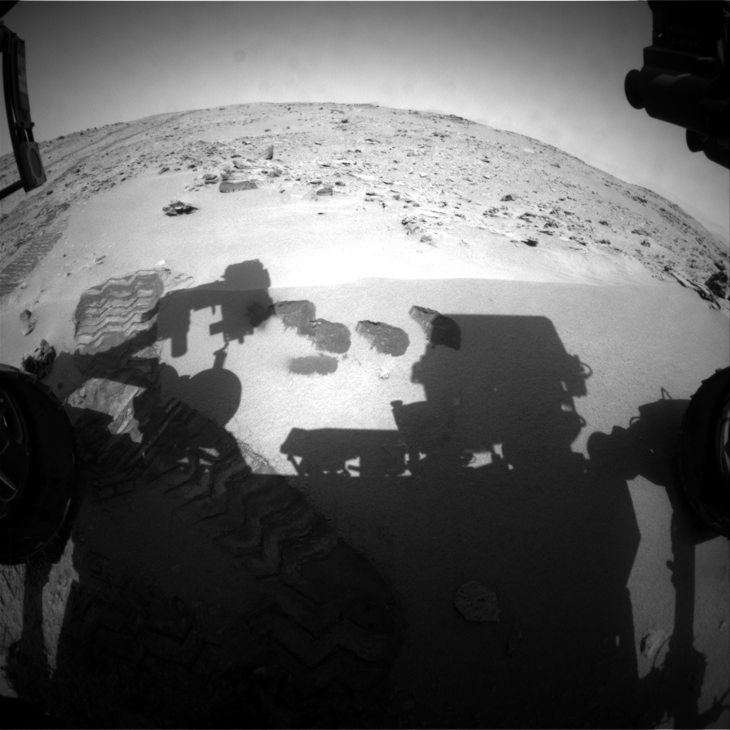 NASA's Mars rover Curiosity acquired this image using its Front Hazard Avoidance Cameras (Front Hazcams) on Sol 77