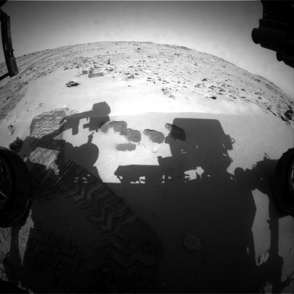NASA's Mars rover Curiosity acquired this image using its Front Hazard Avoidance Cameras (Front Hazcams) on Sol 78