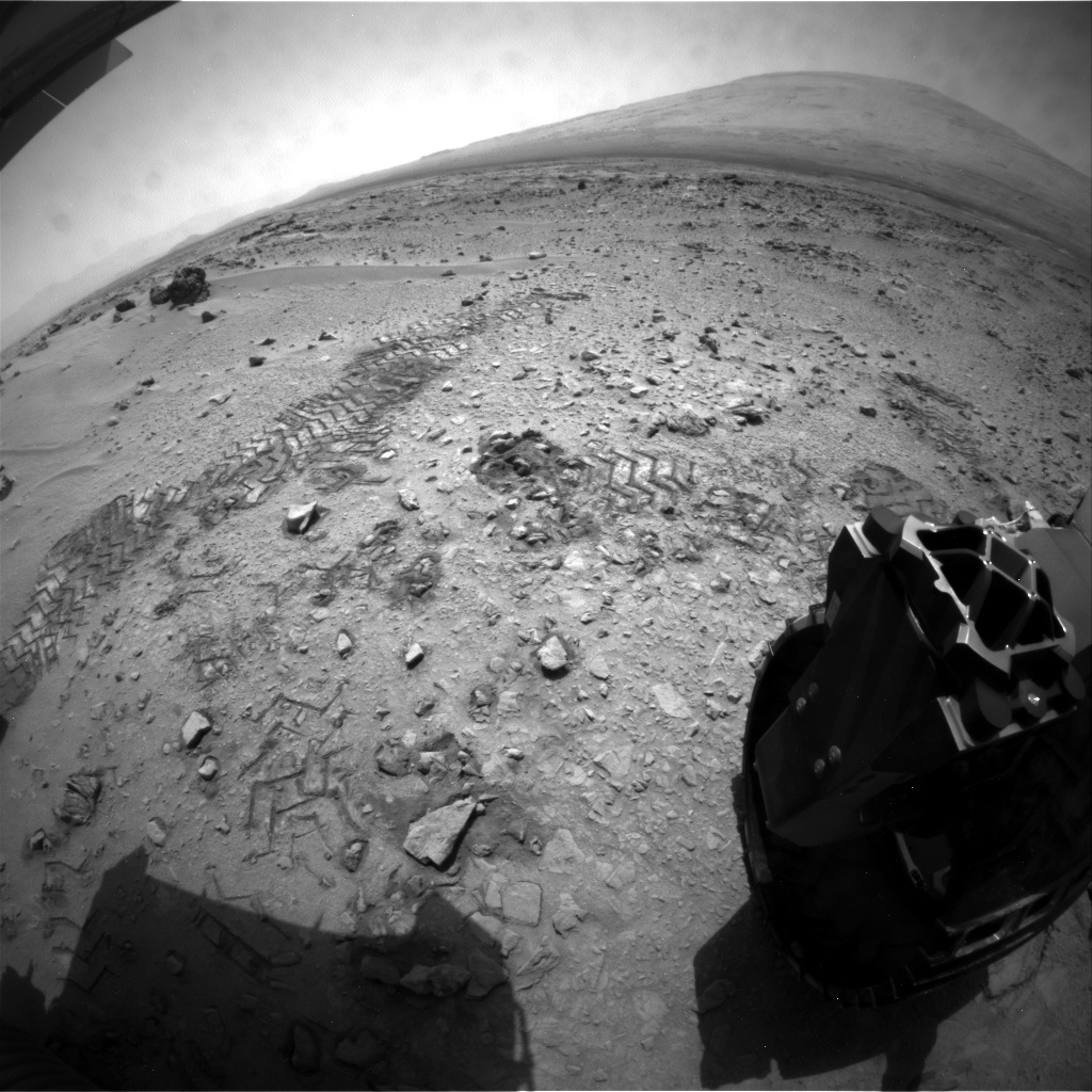 NASA's Mars rover Curiosity acquired this image using its Rear Hazard Avoidance Cameras (Rear Hazcams) on Sol 78