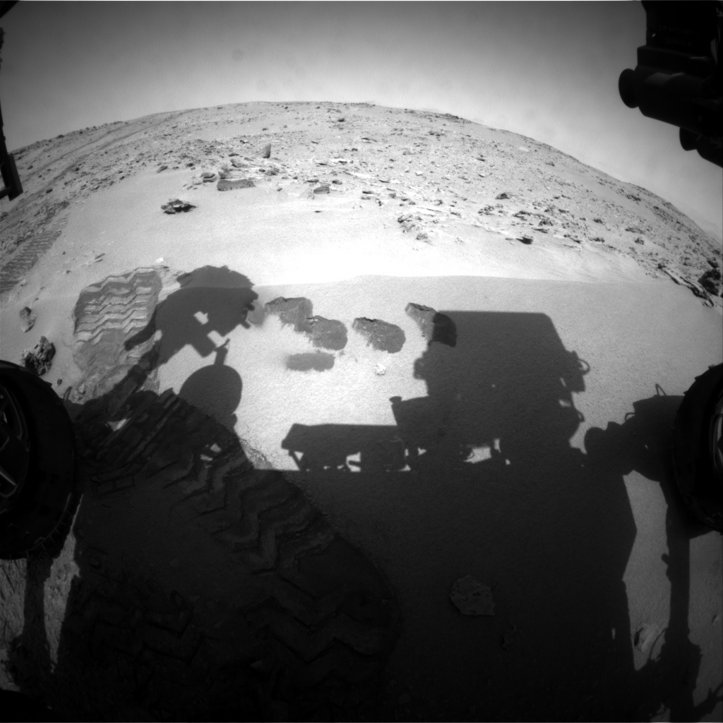 NASA's Mars rover Curiosity acquired this image using its Front Hazard Avoidance Cameras (Front Hazcams) on Sol 79