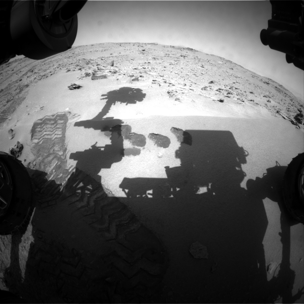 NASA's Mars rover Curiosity acquired this image using its Front Hazard Avoidance Cameras (Front Hazcams) on Sol 80