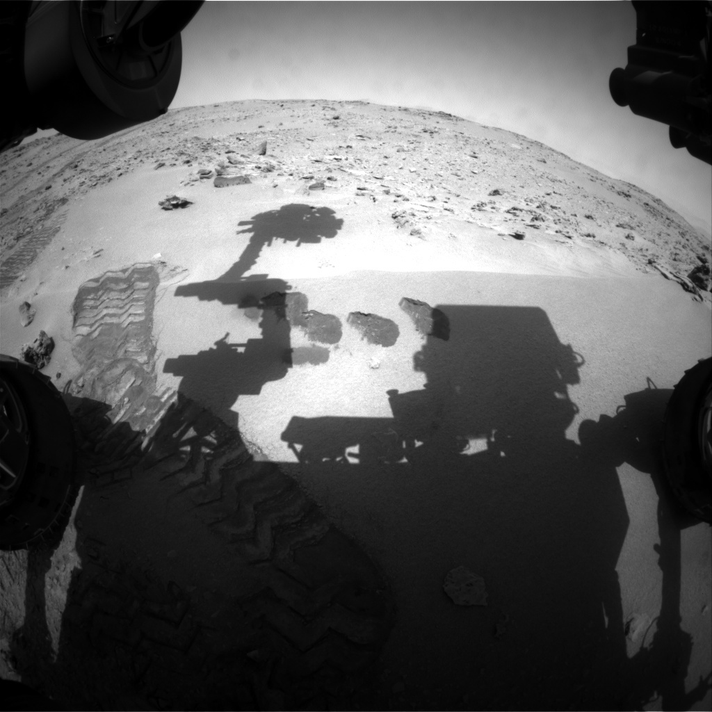 NASA's Mars rover Curiosity acquired this image using its Front Hazard Avoidance Cameras (Front Hazcams) on Sol 81