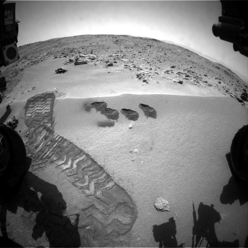 NASA's Mars rover Curiosity acquired this image using its Front Hazard Avoidance Cameras (Front Hazcams) on Sol 82
