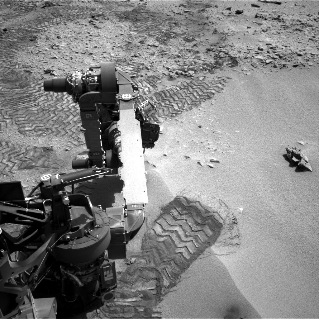 NASA's Mars rover Curiosity acquired this image using its Right Navigation Cameras (Navcams) on Sol 82